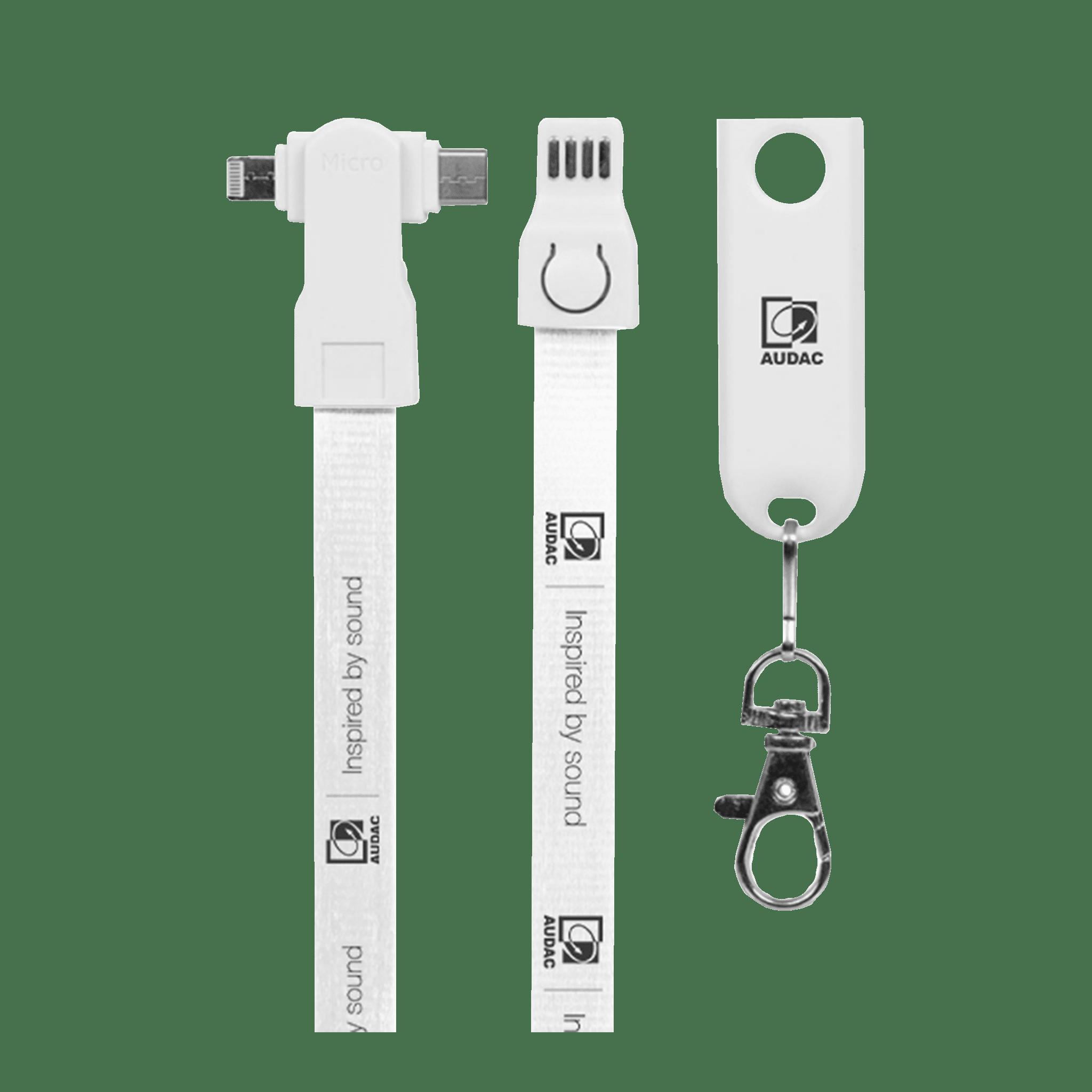PROMO5571 - AUDAC USB charging lanyard 3-in-1