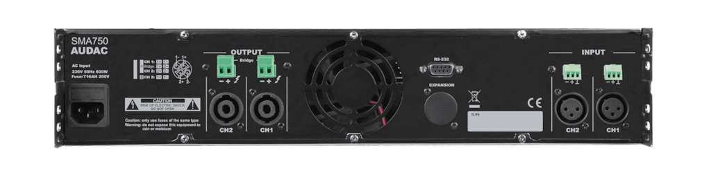 SMA750 - WaveDynamics™ dual-channel power amplifier 2 x 750W