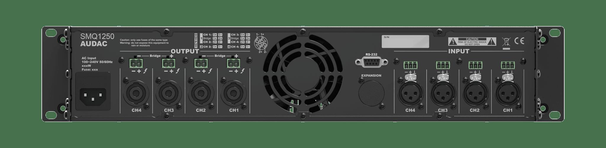 SMQ1250 - WaveDynamics™ quad-channel power amplifier 4 x 1250W