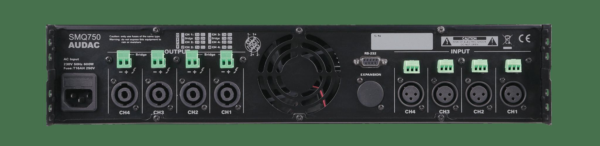 SMQ750 - WaveDynamics™ quad-channel power amplifier 4 x 750W