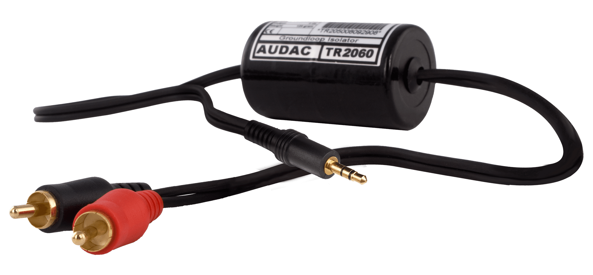 TR2060 - Stereo groundloop isolator RCA male - 3.5mm jack