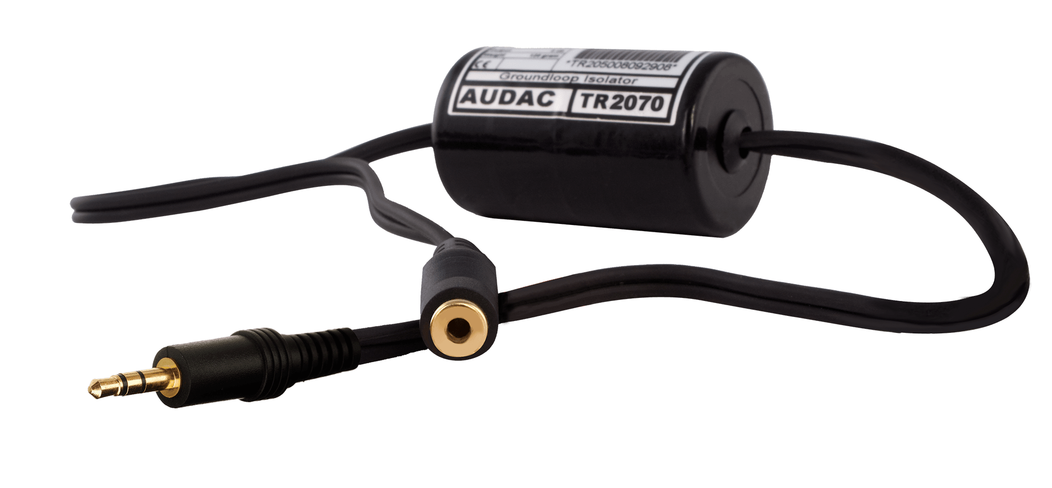 TR2070 - Stereo groundloop isolator 3.5mm jack male - 3.5 Jack female