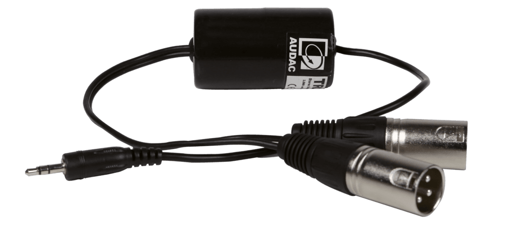 TR2080 - Stereo groundloop isolator 3.5mm jack male - 2 x XLR male