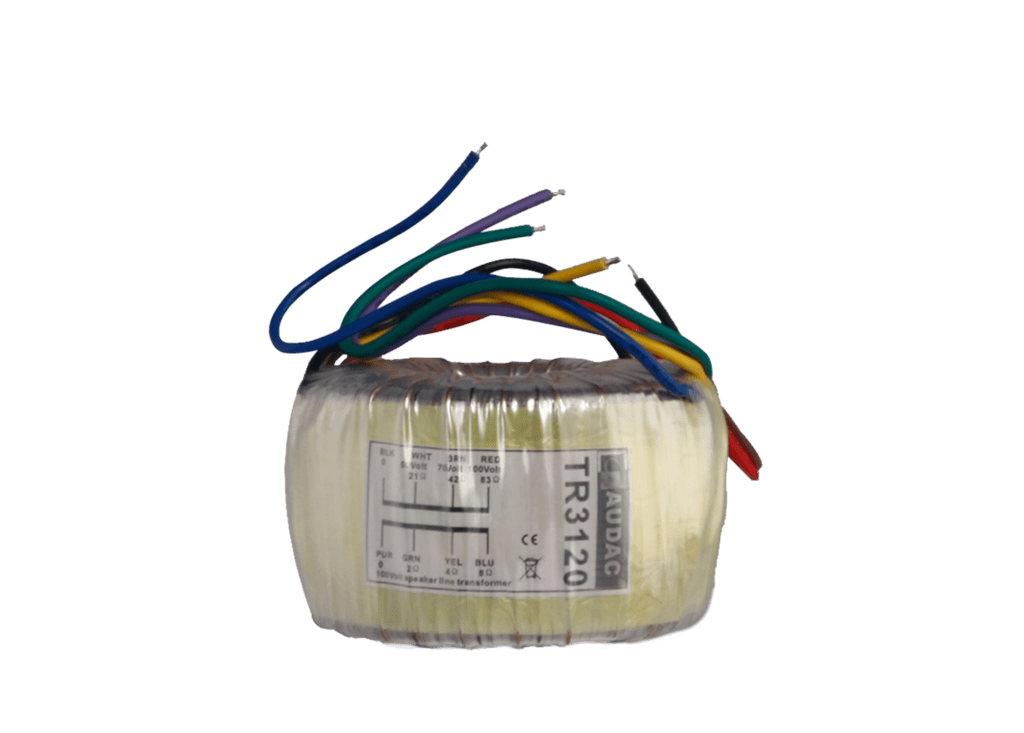 TR3120 - Toroidal audio line transformer 120W 100V