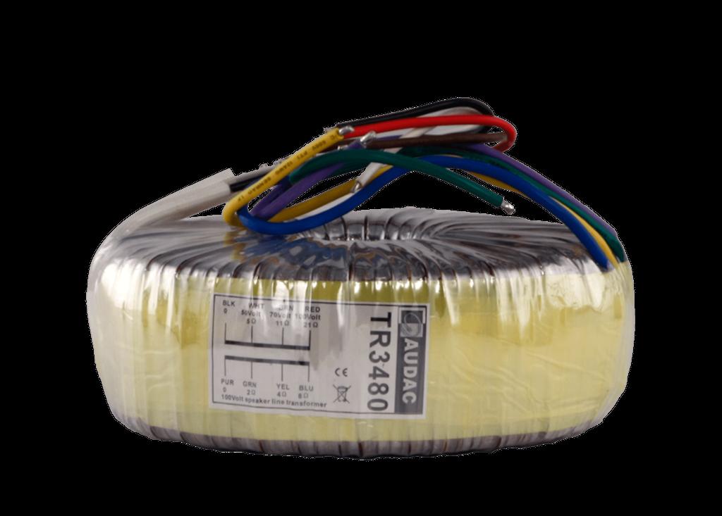 TR3480 - Toroidal audio line transformer 480W 100V