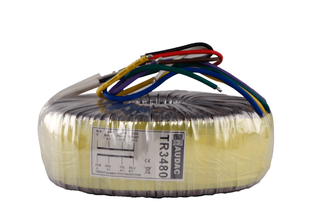 TR3480 - Toroidal audio line transformer 480W 100V