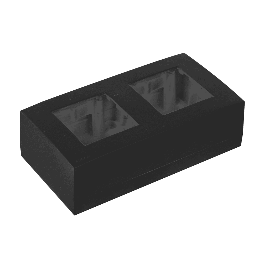 WB45D - Surface mount box double 45 x 45 mm