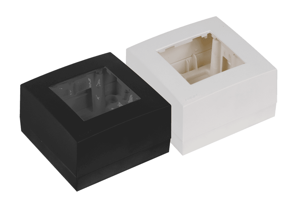 Surface mount box single 45 x 45 mm