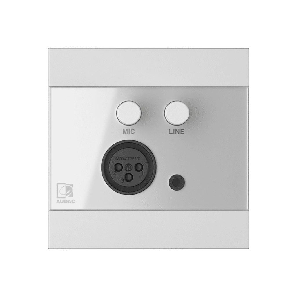 WP205 - ARES5A wall panel - Microphone & line input - 80 x 80 mm