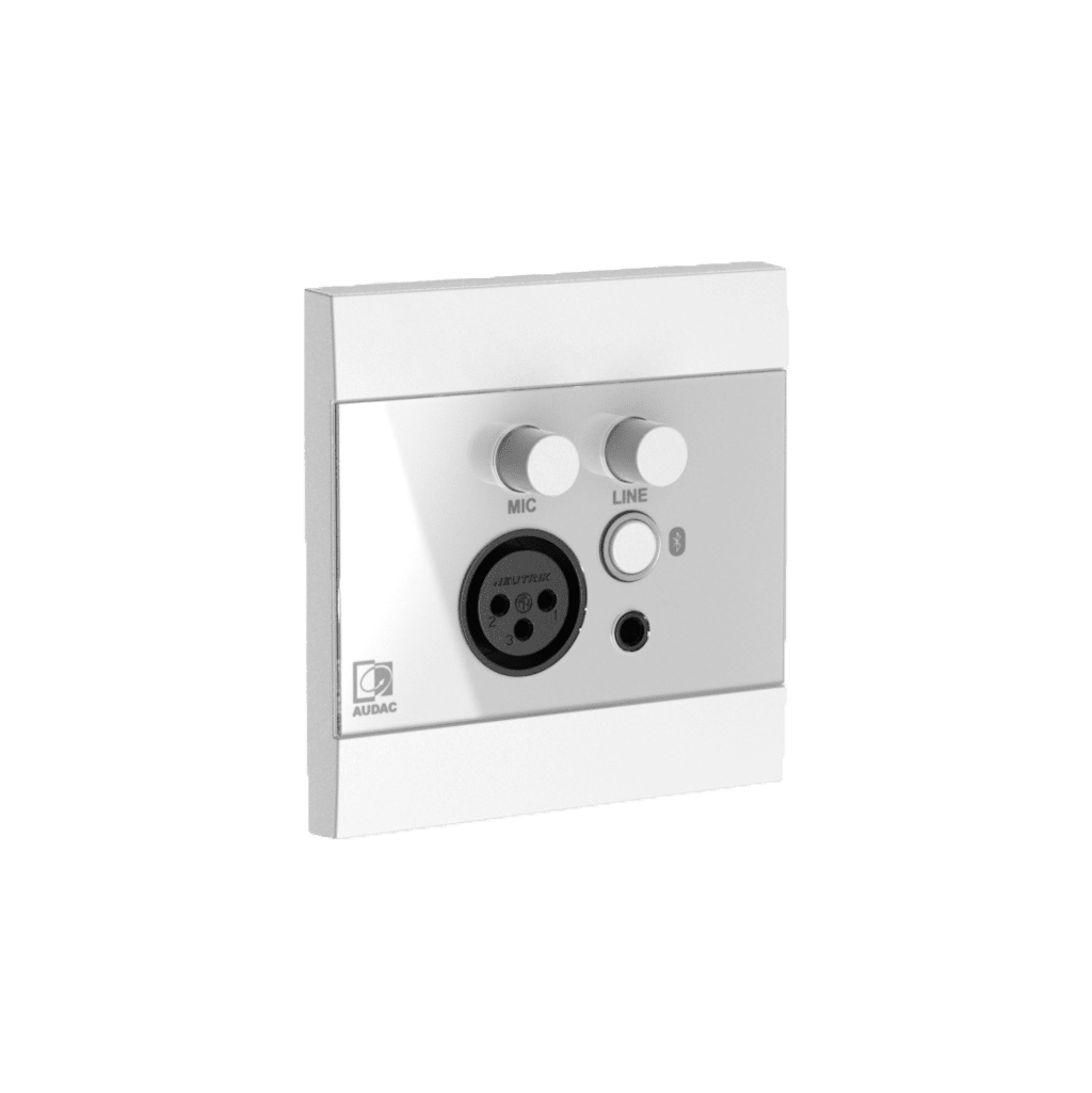 WP225 - Universal wall panel - Microphone, line & Bluetooth receiver - 80 x 80 mm