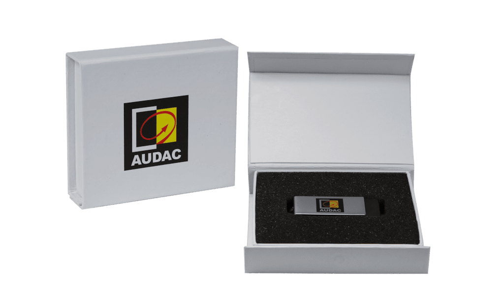 PROMO5035 - White promo box for USB-stick