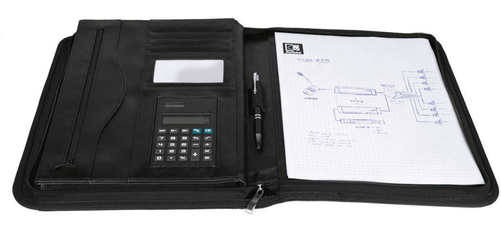PROMO5040 - AUDAC A4 document folder