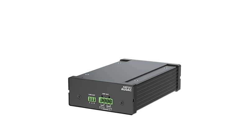 AMP203 - Dante™ mini stereo amplifier