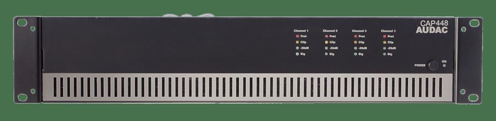 CAP448 - Quad-channel power amplifier 4 x 480W 100V