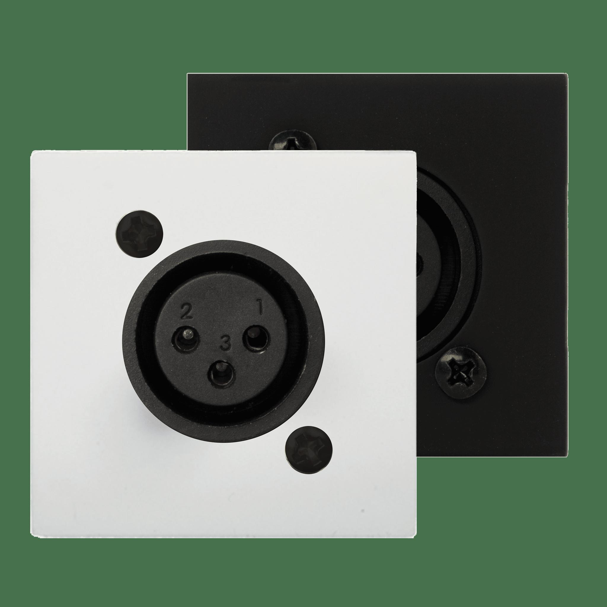CP45XLFS - Connection plate XLR female 45 x 45 mm - solderless