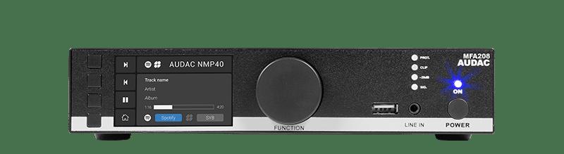 MFA208 - All-in-one audio solution - 2 x 40W @ 4 Ohm - 80W @ 70/100V