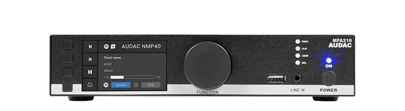 MFA216 - Multi-functional SourceCon™ Amplifier 2 x 80W 70/100V