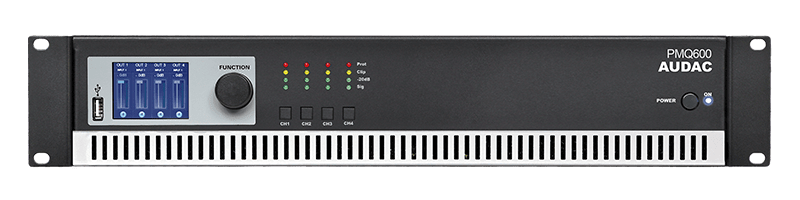 PMQ600 - WaveDynamics™ quad-channel 100V power amplifier
