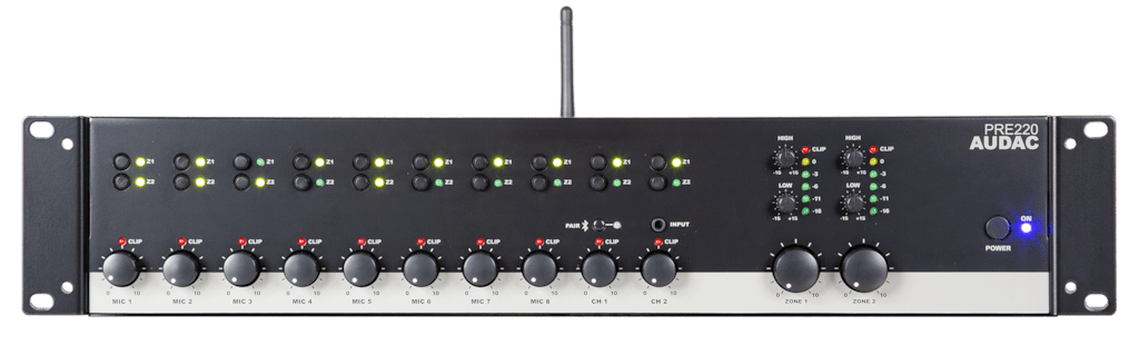 PRE220 - Two zone - 10 Channel stereo pre-amplifier