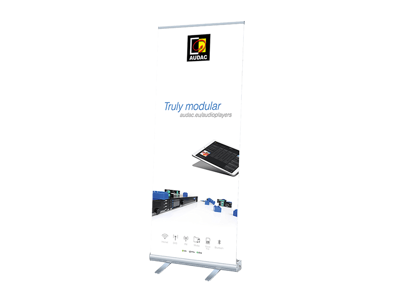 PROMO5300 - AUDAC audioplayers roll-up display