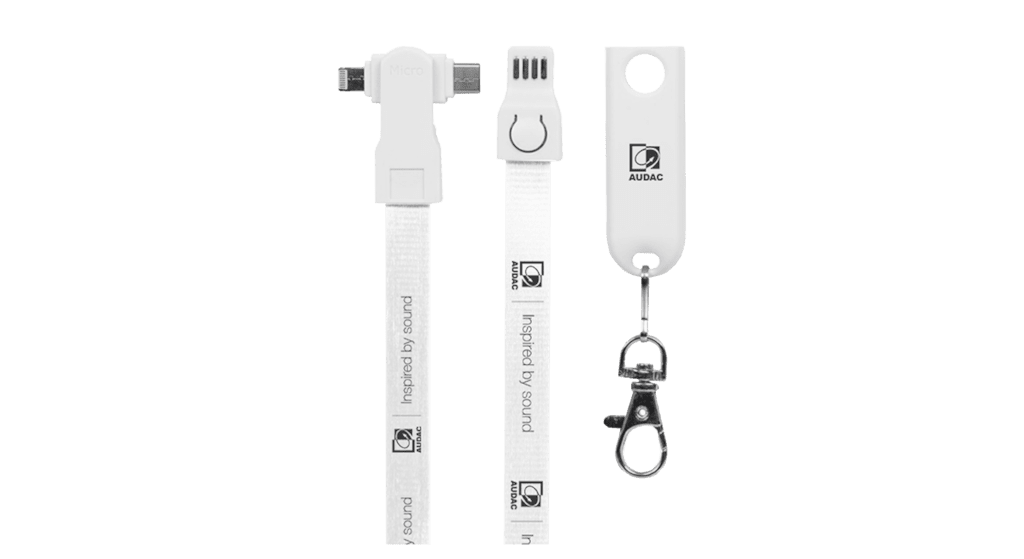 PROMO5571 - AUDAC USB charging lanyard 3-in-1