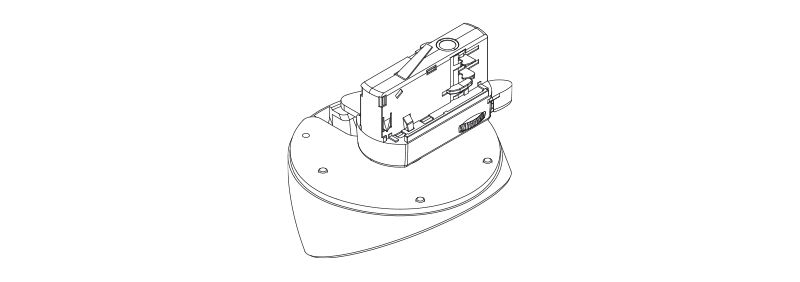 RMA45A - Light track adapter mount for ATEO4 - Smart 3-Phase Track