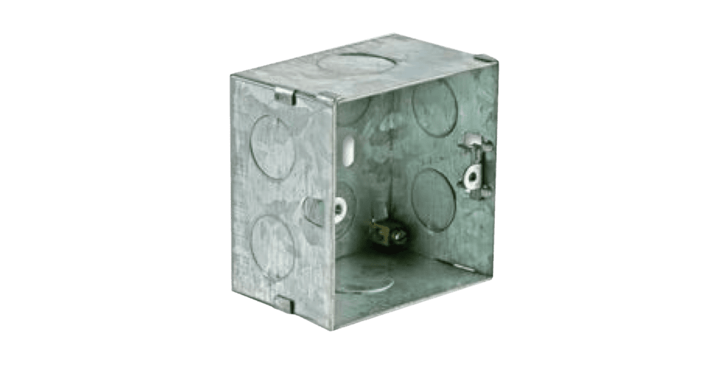 WB3102/FS - Wall mounting box Flush mount - solid wall