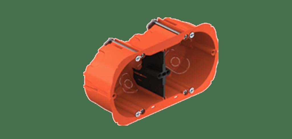 WB45D/FG - Flush mount box double for hollow walls