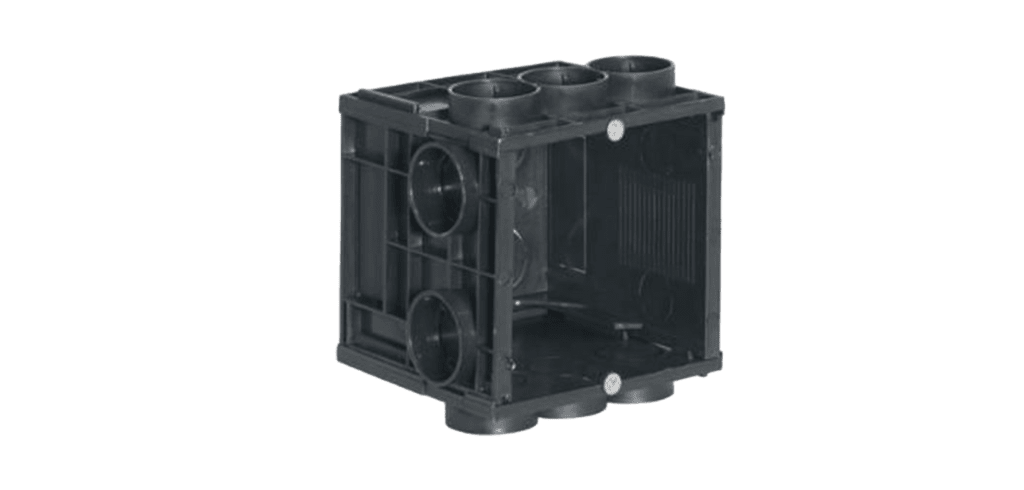 WB45S/FS - Flush mount box for 45 x 45 mm wall panel - Solid wall