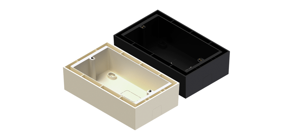 WB5065/S - Surface mount wall box for all-in-one wall panel