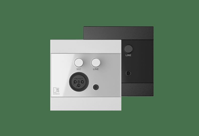 WP210 - Universal wall panel - Microphone & line input - 80 x 80 mm