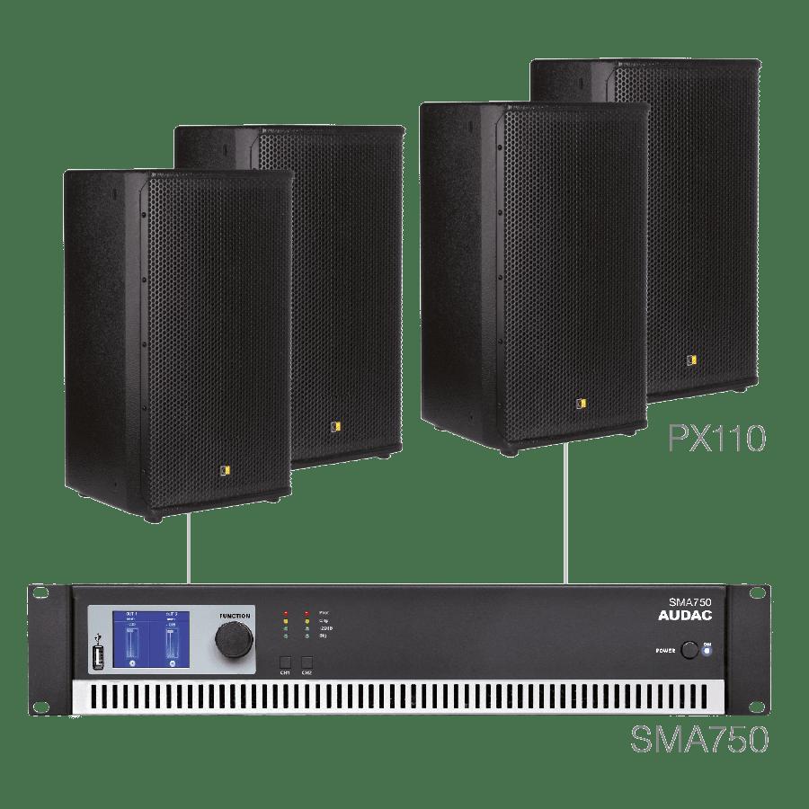 FORTE10.4 - 4 x PX110 + SMA750