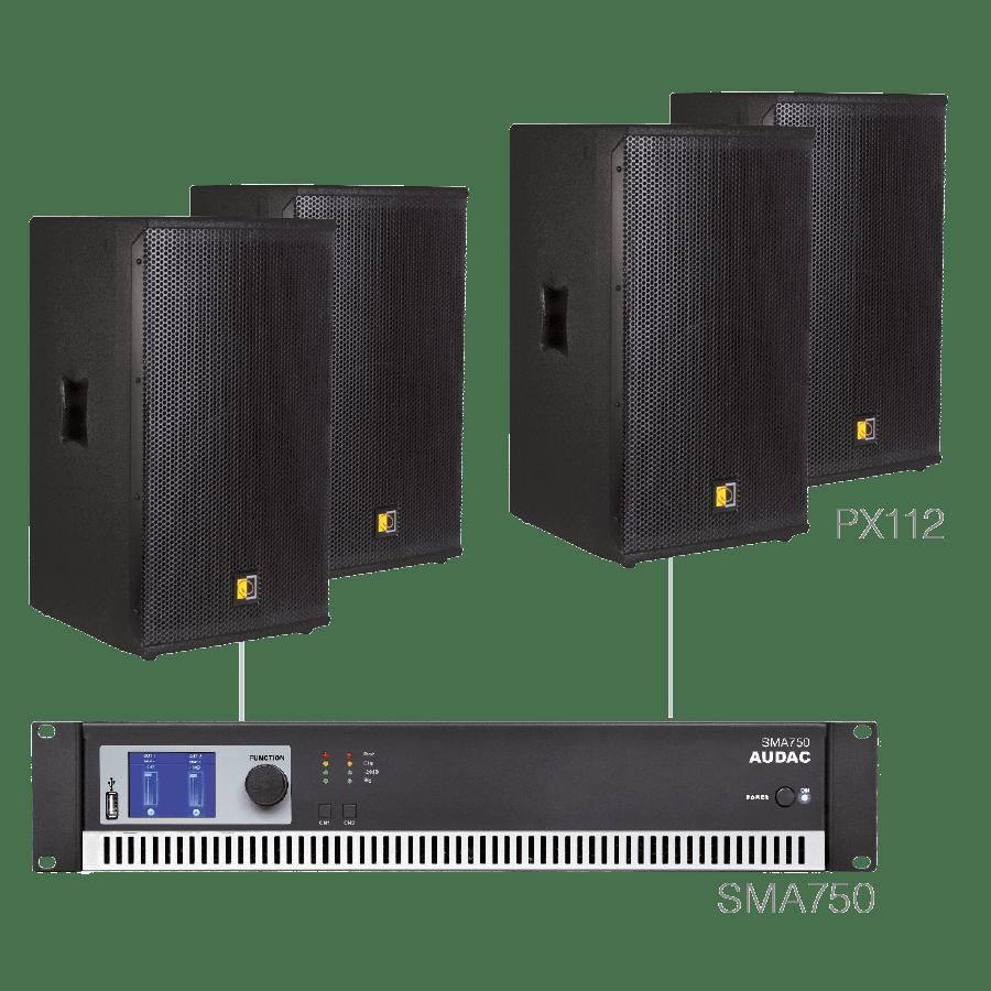 FORTE12.4 - 4 x PX112 + SMA750