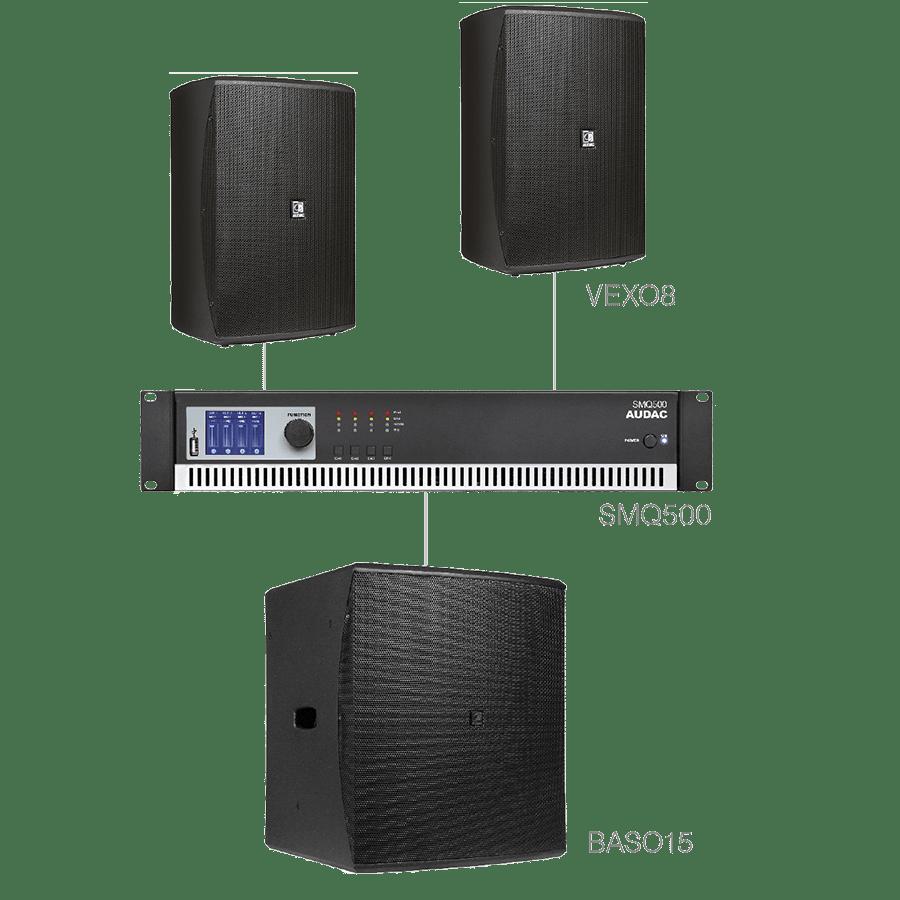 FORTE8.3 - 2 x VEXO8 + BASO15 + SMQ500