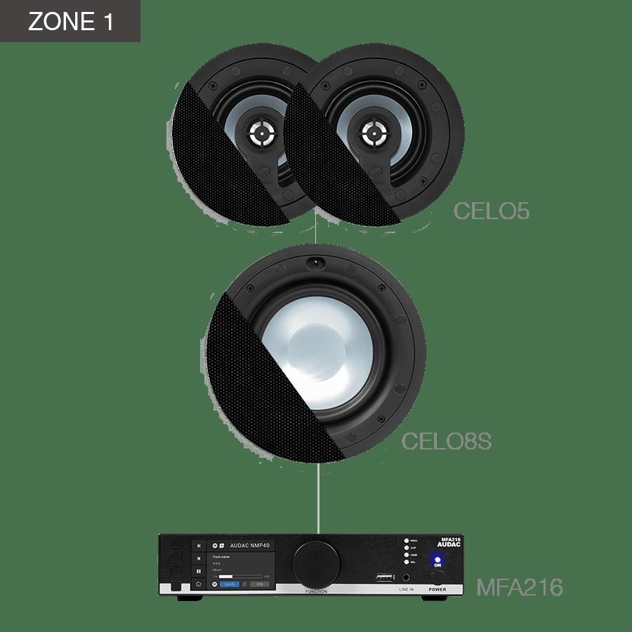 CENTO5.6Z - MFA216 + CELO8S + 4 x CELO5 + NOBA8A