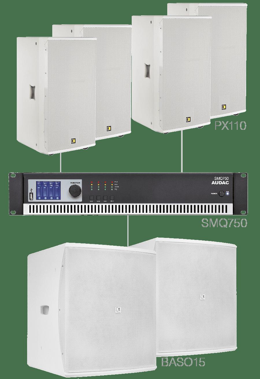 FORTE10.6 - 4 x PX110 + 2 x BASO15 + SMQ750