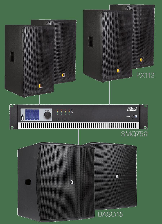 FORTE12.6 - 4 x PX112 + 2 x BASO15 + SMQ750