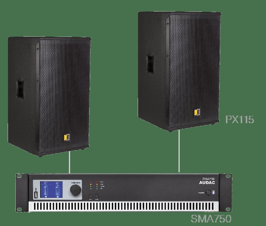 FORTE15.2 - 2 x PX115 + SMA750