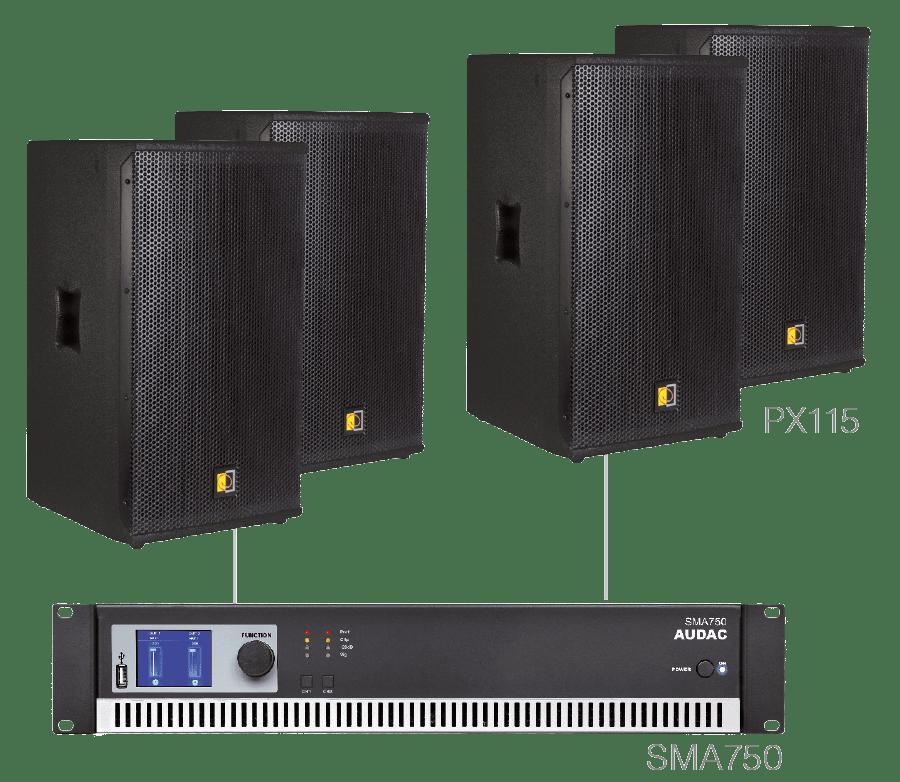 FORTE15.4 - 4 x PX115 + SMA750