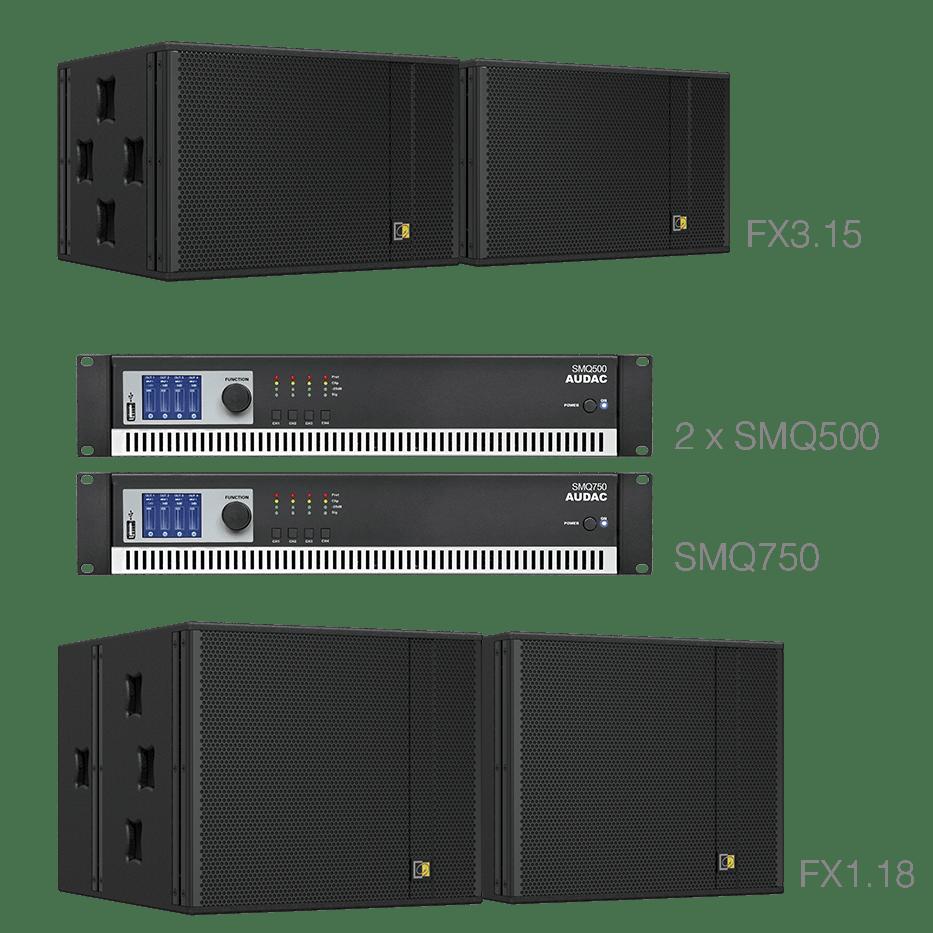 FORTE315.4 - 2 x FX3.15 + 2 x FX1.18 + 2 X SMQ500 + 1 x SMQ750
