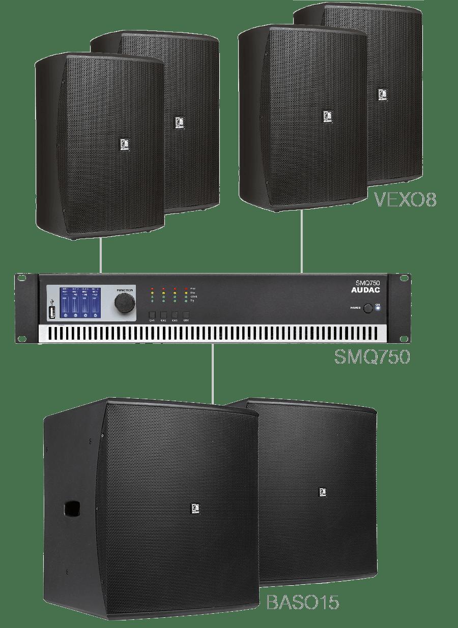 FORTE8.6 - 4 x VEXO8 + 2 x BASO15 + SMQ750