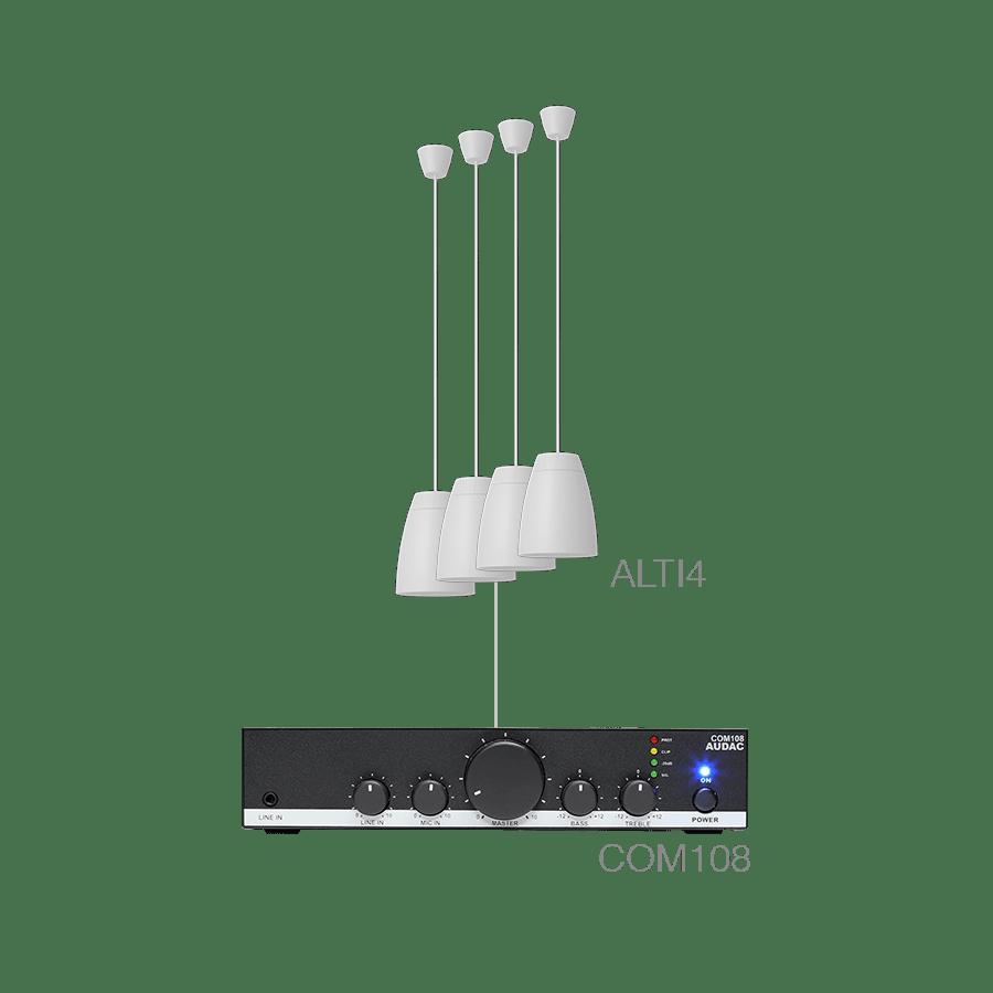LENTO4.4 - 4 x ALTI4/W + COM108