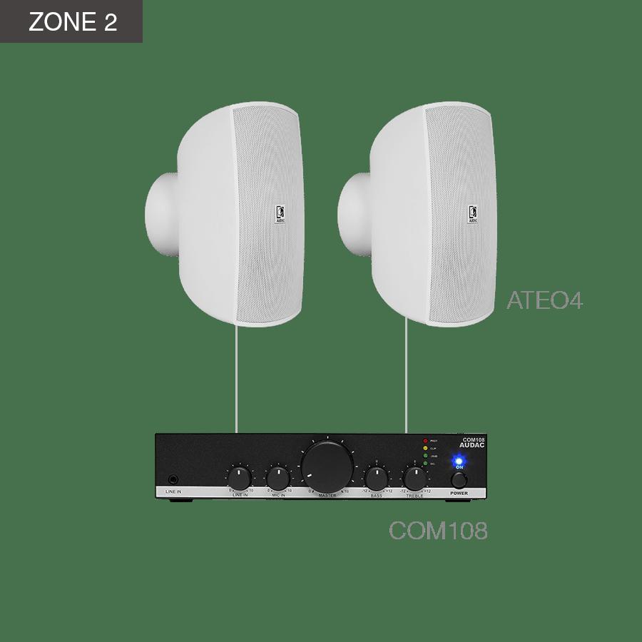 MENTO4.4Z - MFA208 + 4 x ATEO4 + COM108