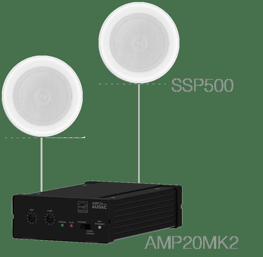 PURRA5.1 - 2 x SSP500 + AMP20