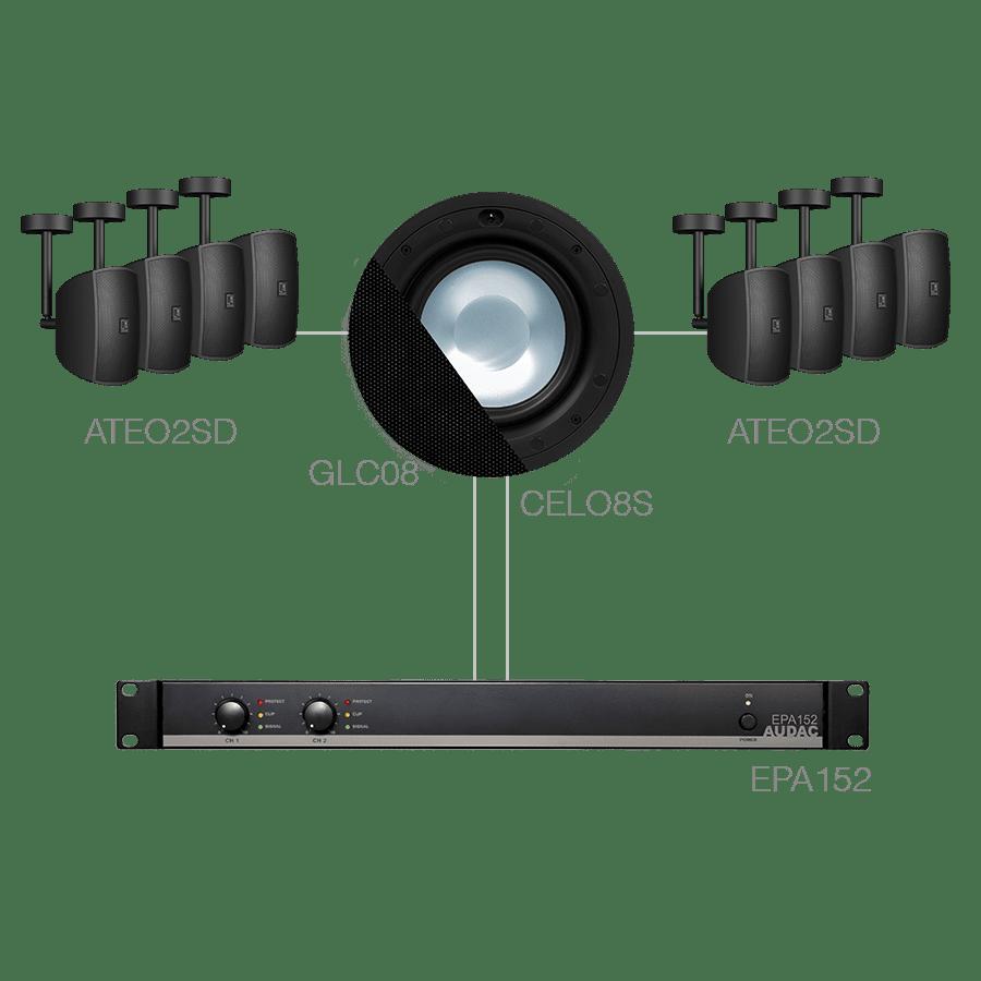 SONA82.8SC - 8 x ATEO2SD + CELO8S + EPA152