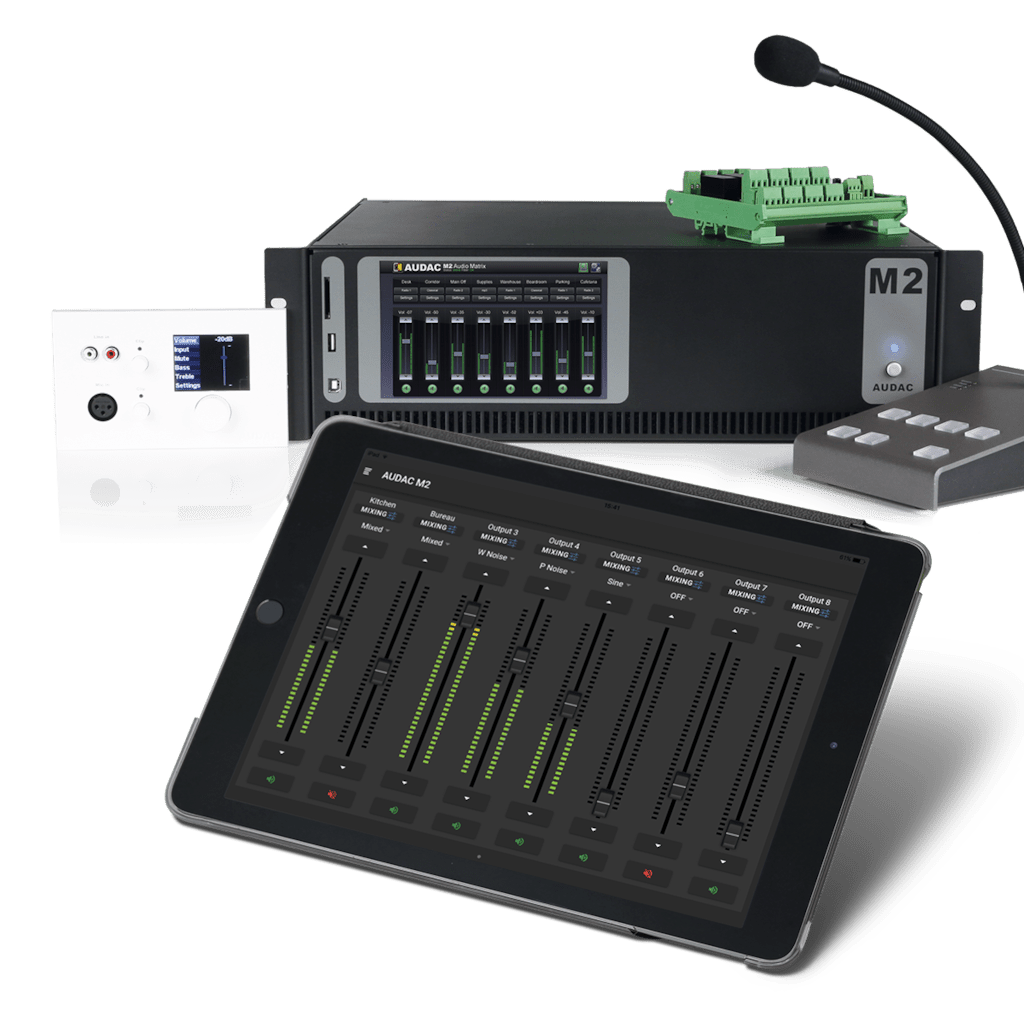 AUDAC Touch™ - M2 Mixing - M2 Mixing functionality