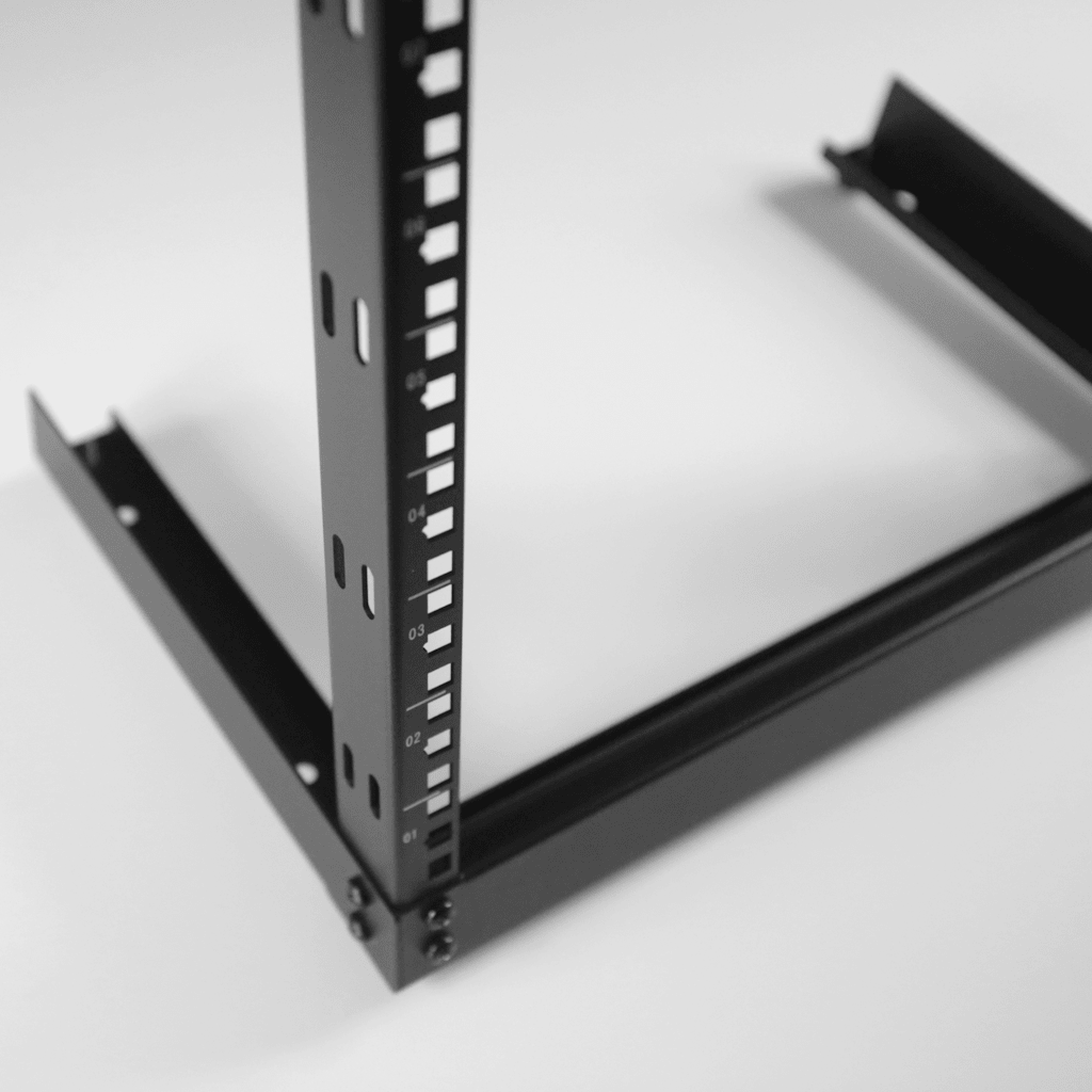 Open frame desktop rack -
