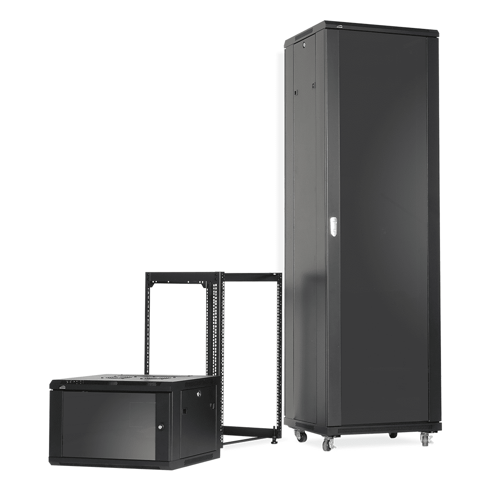 When to choose open frame racks or closed cabinets - The pro's and con's of both rack types.