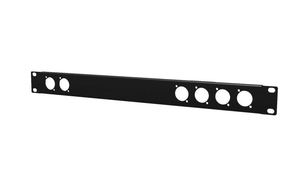 19in Blind Cover 1 Unit 6d-size Holes Black