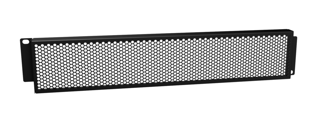"""BSG02H - 19"""" grill security panel - 2HE - with hexagonal perforation"""